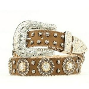 Blazing Roxx Ladies Berry Crystal Concho Belt